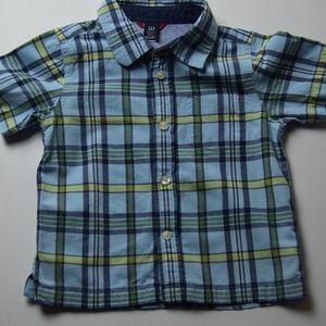 Toddler Boys' Plaid Button-Down Shirt 3 for $15